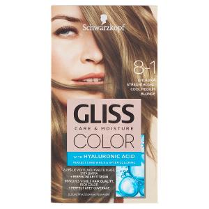 Schwarzkopf Gliss Color barva na vlasy Chladná Střední Blond 8-1