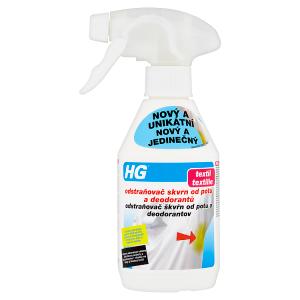 HG Odstraňovač skvrn od potu a deodorantů 250ml