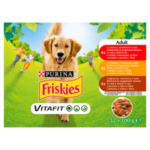 Friskies PES VitaFit výběr s hovězím, kuřetem a jehněčím ve šťávě 12 x 100g