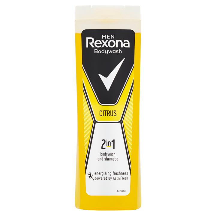 Rexona Osvěžující pánský sprchový gel a šampon 2v1 Citrus 400ml