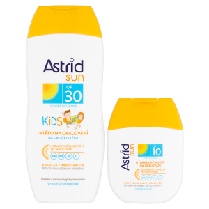 Astrid Sun Dětské mléko na opalování OF 30200ml+ hydratační mléko na opalování OF 1080ml