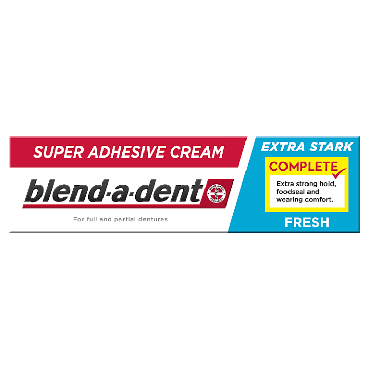 Blend-a-dent Complete Fixační Krém Na Zubní Náhradu 47g, Fresh Blend-a-dent