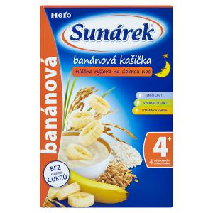 Sunárek Banánová kašička mléčná rýžová na dobrou noc 225g