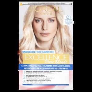 L'Oréal Paris Excellence Créme permanentní barva na vlasy 01 - blond ultra světlá přírodní, 72+48+12+60 ml