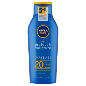 Nivea Sun Protect & Moisture Hydratační mléko na opalování OF 20 400ml
