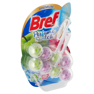 Bref Perfume Switch Green Apple - Water Lily pevný WC blok 2 x 50g