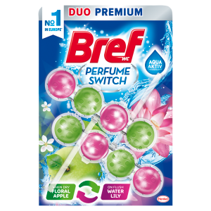 Bref Perfume Switch Floral Apple Water Lily pevný WC blok 2 x 50g