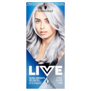 Schwarzkopf Live Ultra Brights or Pastel barva na vlasy Steel Silver 098