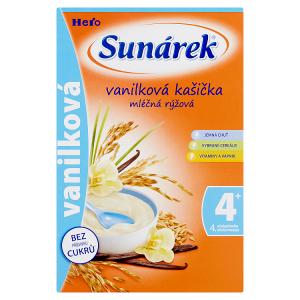 Sunárek Vanilková kašička mléčná rýžová 225g