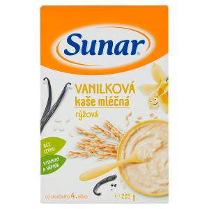 Sunar Vanilková kaše mléčná rýžová 225g
