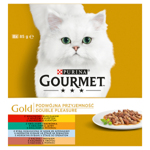 GOURMET Gold Multipack Double Pleasure 8 x 85g