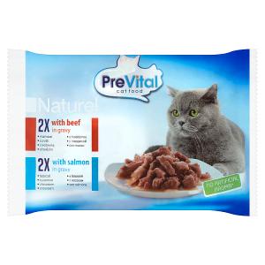 PreVital Naturel Kompletní krmivo pro dospělé kočky 4 x 85g