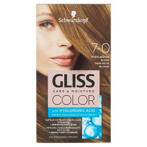 Schwarzkopf Gliss Color barva na vlasy Tmavě Béžová Blond 7-0