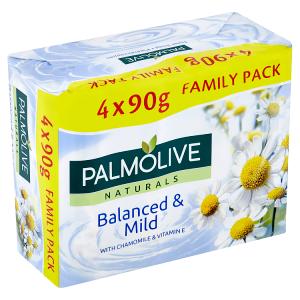 Palmolive Naturals Balanced & Mild tuhé mýdlo 4 x 90g