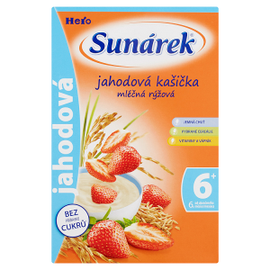 Sunárek Jahodová kašička mléčná rýžová 225g
