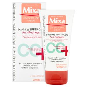 Mixa Sensitive Skin Expert CC+ zklidňující péče proti začervenání s OF 15 50ml