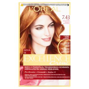 L'Oréal Paris Excellence Creme blond měděná zlatá 7.43