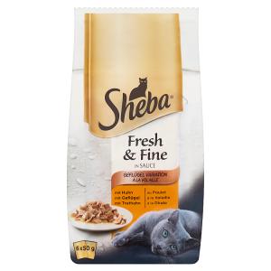 Sheba Fresh & Fine Drůbeží výběr ve šťávě 6 x 50g