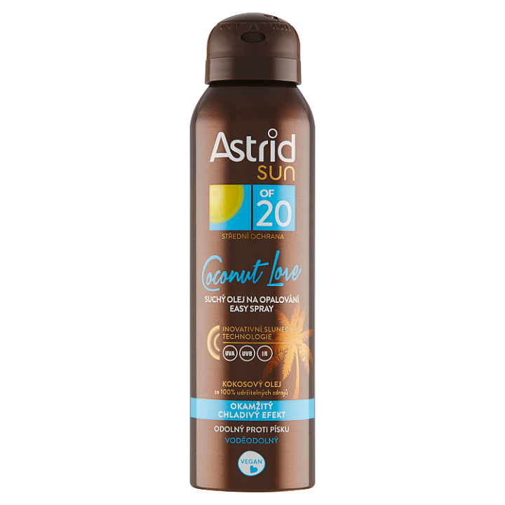 Astrid Sun Coconut Love suchý olej na opalování Easy Spray OF 20 150ml