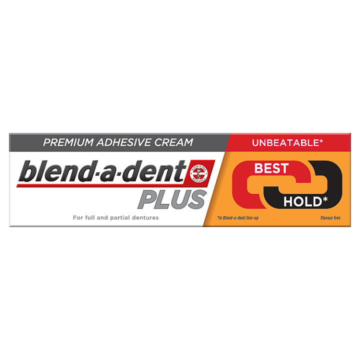 Blend-a-dent Plus Dual Power Premium Fixační Krém Na Zubní Náhradu 40 g Blend-a-dent