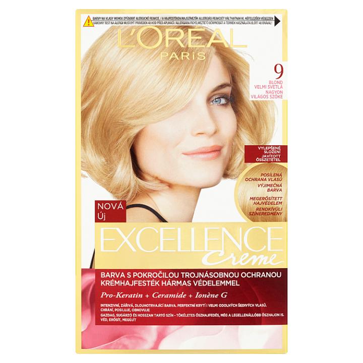 L'Oréal Paris Excellence Creme blond velmi světlá 9