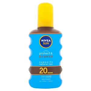 Nivea Sun Protect & Bronze Olej na opalování ve spreji podporující zhnědnutí OF 20 200ml