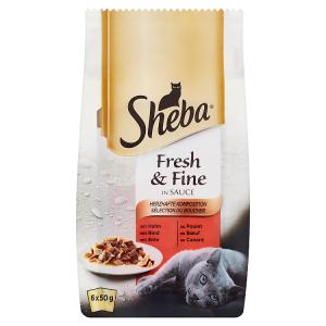Sheba Fresh & Fine Exkluzivní výběr ve šťávě 6 x 50g