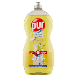 Pur Secrets of the Chef Soda Effect Lemon přípravek na ruční mytí nádobí 1,2l