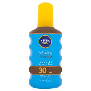Nivea Sun Protect & Bronze Olej na opalování ve spreji podporující zhnědnutí OF 30 200ml