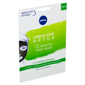 Nivea Urban Skin 10minutová detoxikační textilní maska 1 ks