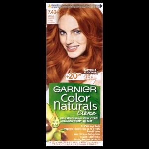 Garnier Color Naturals permanentní barva na vlasy 7.40+ vášnivá měděná, 60+40+10ml