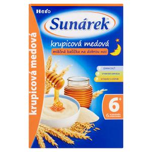 Sunárek Krupicová medová mléčná kašička na dobrou noc 225g