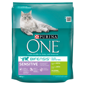 Purina ONE Sensitive bohaté na krůtu a rýži 800g