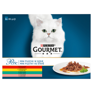 GOURMET Perle mini filetky ve šťávě multipack 8 x 85g