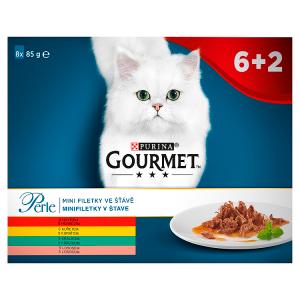 GOURMET Perle mini filetky ve šťávě multipack 8 x 85g