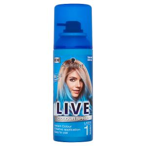 Schwarzkopf Live vlasový make-up sprej Blue Twist 120ml