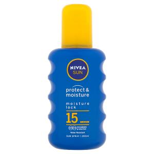 Nivea Sun Protect & Moisture Hydratační sprej na opalování OF 15 200ml