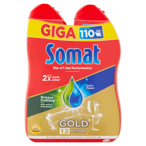 Somat Gold Grease Cutting gel do automatické myčky na nádobí 2 x 990ml
