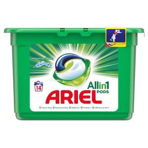 Ariel Allin1 Pods Mountain Spring Kapsle Na Praní, 14 Praní