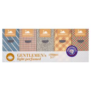 Harmony Gentlemen's light perfumed papírové kapesníky 3 vrstvy 10 x 10 ks