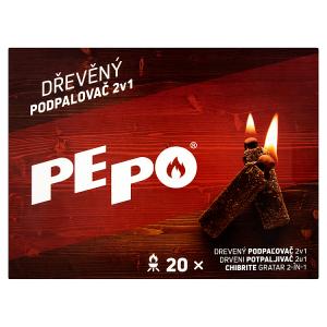 PE-PO Dřevěný podpalovač 2v1 20 ks