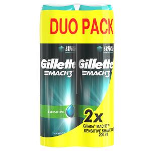 Gillette Mach3 Complete Defense Sensitive Pánský Gel Na Holení 2x200ml