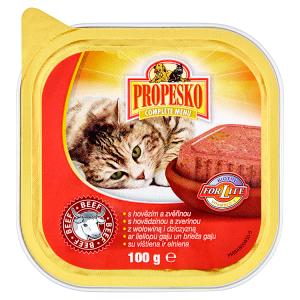 Propesko Kompletní krmivo pro dospělé kočky s hovězím a zvěřinou 100g