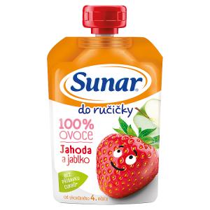 Sunar Do Ručičky Jahoda a jablko 100% ovoce 100g