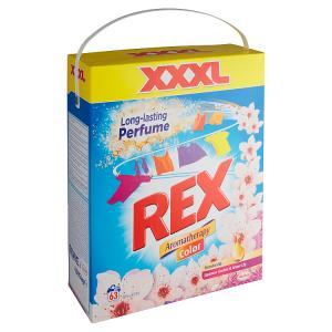 REX prací prášek Aromatherapy Japanese Garden & Water Lily Color BOX 63 praní, 4,095kg