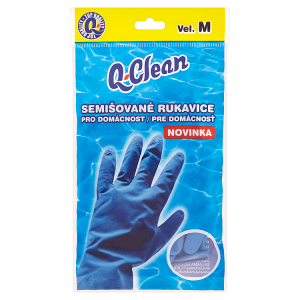 Q-Clean Semišované rukavice pro domácnost vel. M