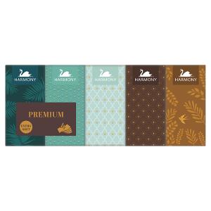Harmony Premium Extra Soft papírové kapesníky 4 vrstvy 10 x 9 ks