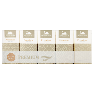 Harmony Premium Papírové kapesníky 4 vrstvy 10 x 9 ks