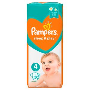 Pampers Sleep&Play V4, 50Plenek, 9–14kg Důvěrný Pocit Sucha