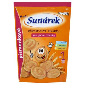 Sunárek Písmenové sušenky pro první zoubky 150g